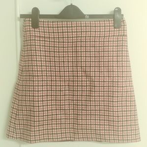 JCrew mini houndstooth skirt - brand new with tags